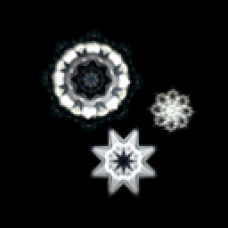 Triple Glowing Snowflake Display